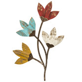 Distressed Tulips Wood Wall Decor